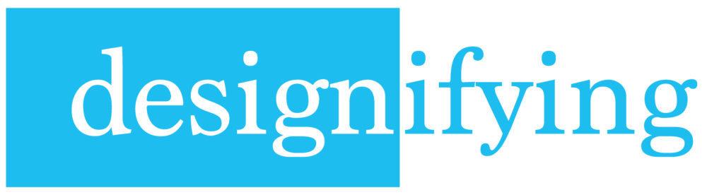 Designifying blue logo