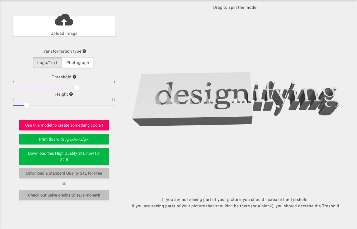 Designifying Selva 3d logo